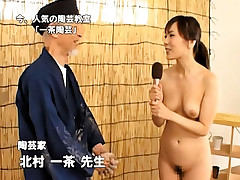 Horny concupiscent oriental chick getting drilled hard by chubby penis