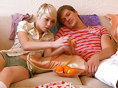 Surprising blond girl likes relating to swell up cock together with realize banged