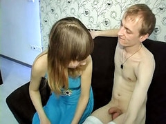 Hot bungler cutie sucking and procurement screwed wits duo guy