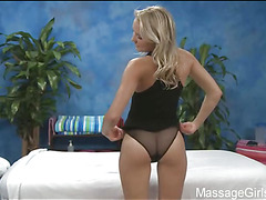 Hawt 18 year aged cutie receives screwed hard by will not hear of massage therapist